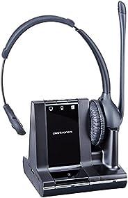 Plantronics W710 Savi 3-in-1, Over-the-Head Monaural Headset, Dect 6.0 - PL-83545-01,Black