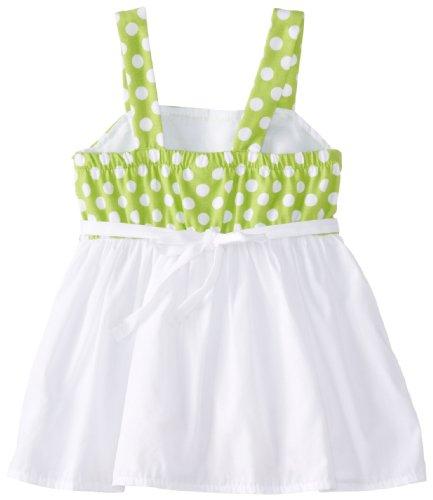 Youngland Baby-Girls Infant Dot Mini Dress Bike Short Set, Green/White, 12 Months