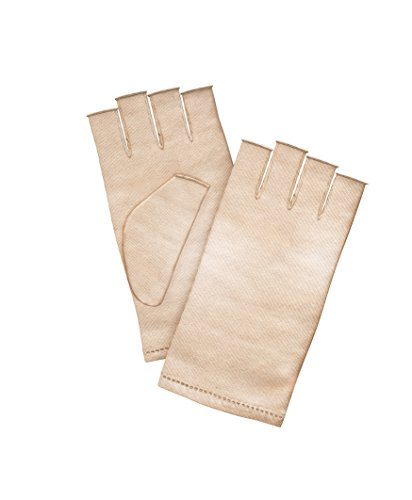 Iluminage Skin Rejuvenating Gloves Medium/Large, Patented Copper Technology for Repair and Replenishment, Copper-Infused Gloves for Daily - Large Skin Angel