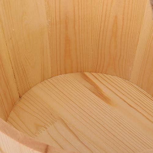 Hölzernes Saunazubehör, 6L Saunareimer-Fass Holzsauna-Zubehör für Spa-Duschzubehör Badezimmer Natürlicher weißer Kiefernwassereimer