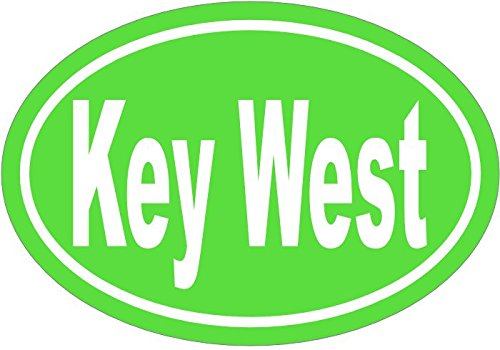 Key West Decal   Green Key West Vinyl Sticker   Key West Bumper Sticker   Florida Decal   Perfect Key West Gift   Made In The Usa
