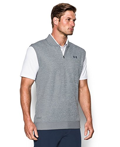 Under Armour Men's Storm SweaterFleece Vest, True Gray Heather/True Gray Heather, Small
