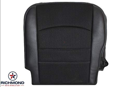 Standard Seat Upholstery - Richmond Auto Upholstery - Driver Side Bottom Replacement Seat Cover, Black (Compatible with 2016 Dodge Ram 1500 Sport Standard Cab)