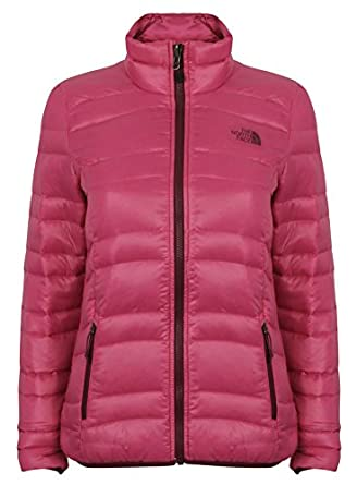 a41a225973 The North Face Womens Quilted Goose Down Pink Coat Jacket Manchuria  CZ34146. SIZE - SMALL.  Amazon.co.uk  Clothing