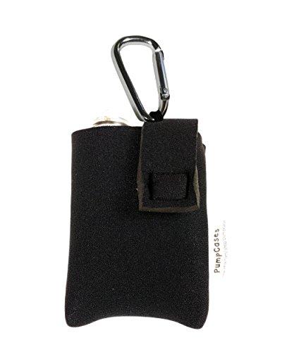 Black 4mm Insulated Neoprene Diabetic Insulin Pump Case (Med. 630G / 670G, Black w/ Clip)