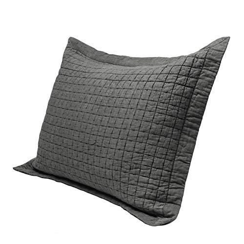 "Elegant Life Super Soft 100% Cotton All-season Square Rice Stitching King Pillow Sham, 20""x36""+1.75"" flange by Elegant Life"