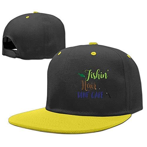 RGFJJE Gorras béisbol Baseball Caps Hip Hop Hat Fishin Hair Don't Care Boy-Girl