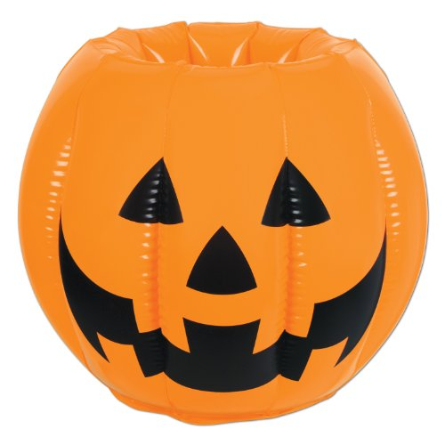 Orange Jack-o-Lantern Inflatable Beverage Cooler