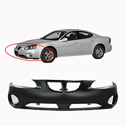 MBI AUTO - Primered, Front Bumper Cover 2004 2005 2006 2007 2008 Pontiac Grand Prix , GM1000698