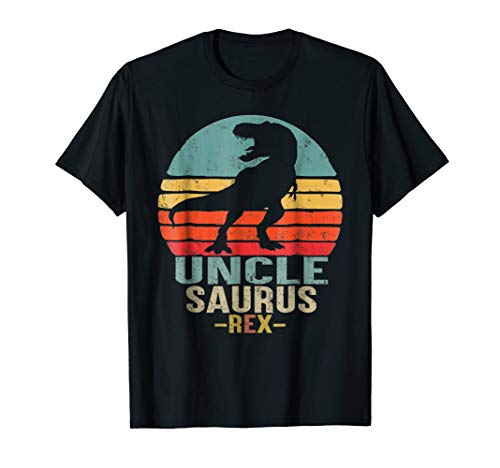 Unclesaurus T Shirt T Rex Uncle Saurus Dinosaur Men ()
