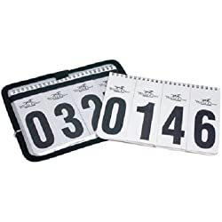 World Class Equine Horse Show Winning Number Set with Case and 2 Sheets of Numbers