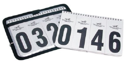 World Class Equine Horse Show Winning Number Set with Case and 2 Sheets of Numbers (Horse Show Numbers)