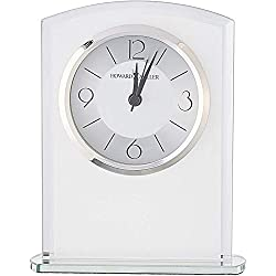 Howard Miller Glamour Table Clock 645-771 - Modern Glass with Quartz Alarm Movement