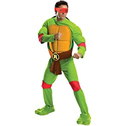 Rubie's Men's Teenage Mutant Ninja Turtles Deluxe Adult Muscle Chest Raphael, Green, X-Large