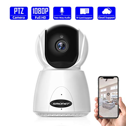 1080P WiFi IP Camera,SMONET Wireless PTZ Indoor Surveillance Camera with Night Vision,Motion Detection,Two-Way Audio,Support Cloud Storage-1 ()