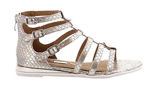 MM 66068 - Zapatos de vestir para mujer Skin platino