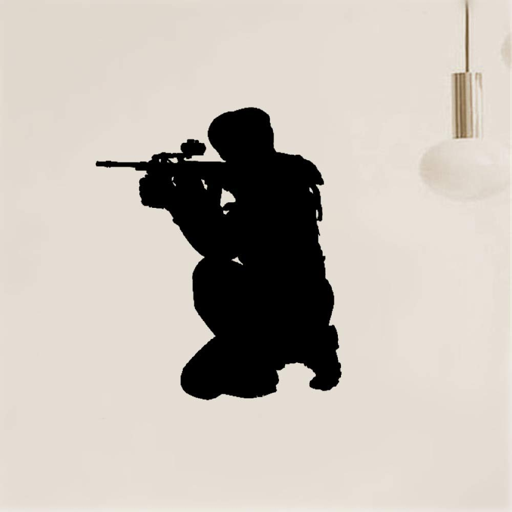Weatyu Wall Stickers Quotes Vinyl Art Room Mural Posters Extreme Sport Player Shooter Paintball