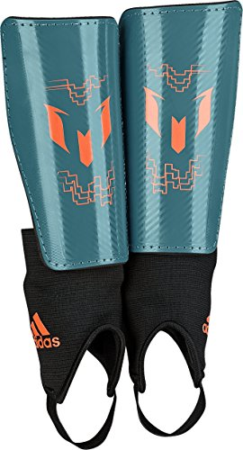 adidas Performance Messi 10 Youth Shin Guard, Power Teal/Sol