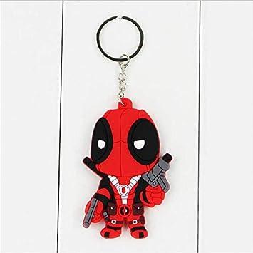 zoomingmingli Anime X-Man Deadpool PVC Llavero Juguetes ...