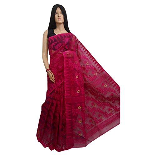Ethnic Handoom Dhakai Jamdani Saree Full weaving work Bengal Women sari Indian Festive saree 105 1