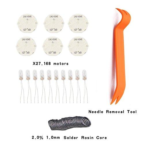 Dr.Roc GM Instrument Cluster Gauge Stepper Motor Repair Kit X27 168 (6 Motors,10 Backlight Bulbs,1 Remove Tool,Flux Rosin Core (Pontiac Grand Prix Instrument)