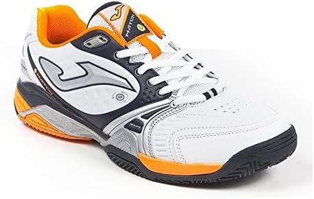 joma Zapatilla Padel Match Withe-Orange Talla 41 EUR: Amazon.es ...