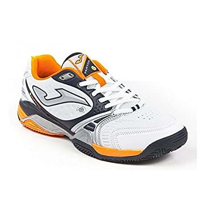 Joma Zapatilla Padel Match Withe-Orange Talla 43 1/2 EUR