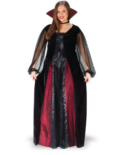 Gothic Vampire Dress (Goth Maiden Vampiress Plus Size Costume)
