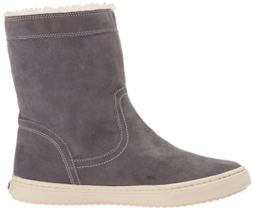 Roxy Womens Blake Mid Faux Suede Shoe Fashion Sneaker Charcoal p4LIIDHo0