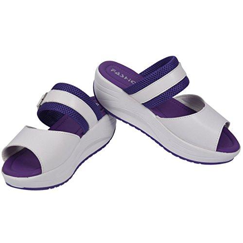 Schuhe Schuhgröße Lila Fischkopf Damenschuhe 35 R Sandalen SODIAL Damen Sandalette Neu Rot Sommerschuh Erhöhte Rose zC1qHB