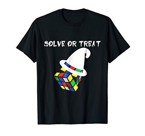 Halloween Rubik Cube T-shirt Solved Gift Tee