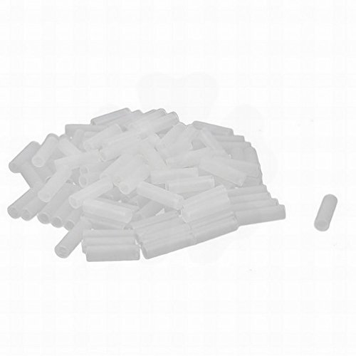 LERJIMUX 100 Pcs White Nylon PCB LED Spacer Support Cylindrical 17mmx3.5mmx5mm