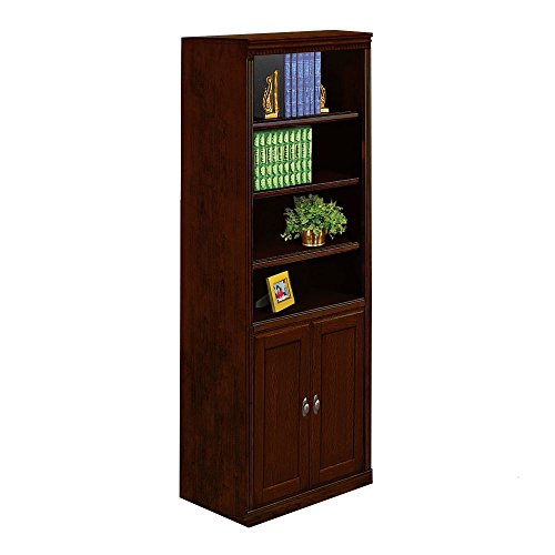 Double Dentil Molding - Huntington Club Six Shelf Bookcase with Doors - 72