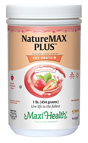 Maxi Health Naturemax PLUS – Soy Protein – Strawberry – Diet & Energy Support – 1 lb Powder – Kosher For Sale