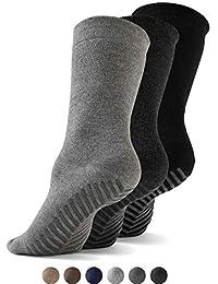 Gripjoy Grip Socks Non Slip Socks for Women Men | Non Skid Hospital Socks – 3 pk