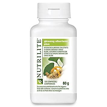 Nutrilite Siberian Ginsean and Ginkgo Biloba 100 Tablets,amway Product,amway