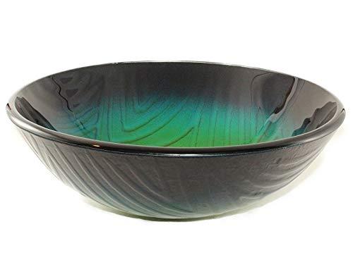 Ocean Depth Round Glass Sink; Glass Vessel Sink; Bathroom Round Bowl; Above The Counter Sink; Art Design Sink; Dark Green Sink