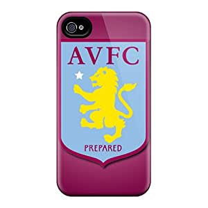 Iphone 4/4s Case Cover - Slim Fit Tpu Protector Shock Absorbent Case (aston Villa Fc)