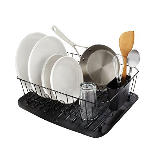 rubbermaid antimicrobial dish drainer large black 1858913 buy online in uae kitchen. Black Bedroom Furniture Sets. Home Design Ideas