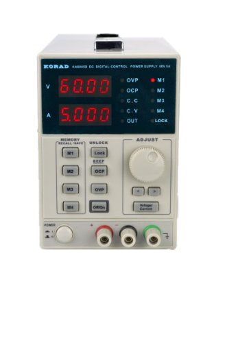 KORAD KA6005D -Precision Variable Adjustable 60V, 5A DC Linear Power Supply Digital Regulated Lab - Grade Supply Power