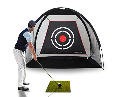GALILEO Golf Hitting Nets Golf Net Training Aids Practice Nets 6.7' (L) X5' (H) X3.3' (W) for Backyard Driving Range Chipping Net with Target Carry Bag Outdoor Sports