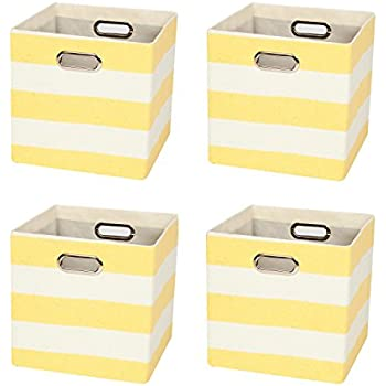 Delicieux Closet Organizer   Collapsible Fabric Storage Cubes Container Baskets  Boxes, 4 Cubeicals Bins Drawers,