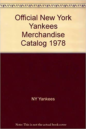 Official New York Yankees Merchandise Catalog 1978 Ny Yankees Books