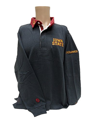 NCAA Iowa State Cyclones Rugby Shirt, Charcoal, X-Large