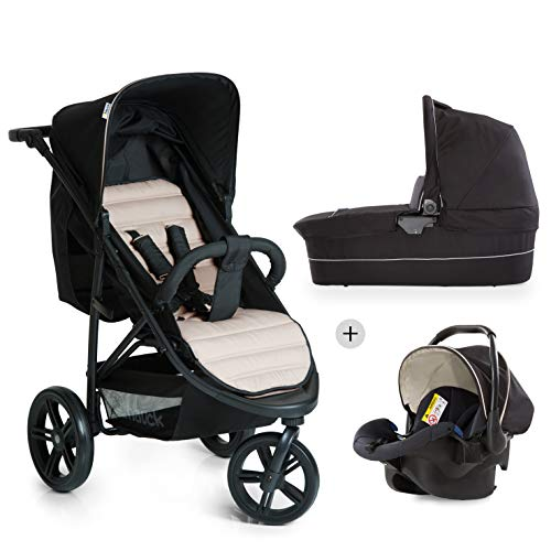 hauck 3 in 1 rapid 3 plus kinderwagen komplett trio beige. Black Bedroom Furniture Sets. Home Design Ideas