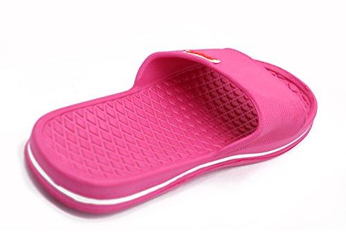 Slipper Indoor Bathroom Insun Women's Rose 2 PVC Sandals Pack Red wq4xPZS