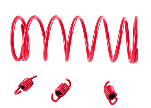 PODOY Gy6 150cc Clutch Springs Performance Tourque Red for Scooter 125cc ATV 2k RPM Clutch Springs ()
