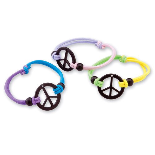 Friendship 36 Bracelets (SmileMakers Peace Sign Friendship Bracelets - 36 per Pack)
