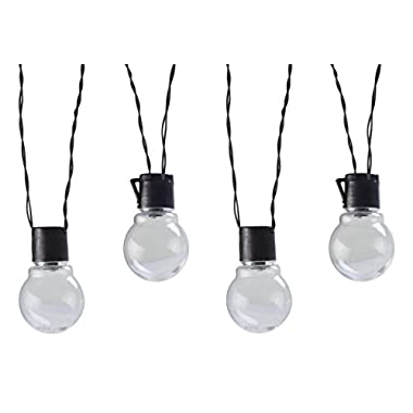 Moonrays 91129 Solar Powered LED Globe String Lights