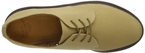 Dr Hombre De beige Twill Zapatos Cagney Para tan Cordones Beige Fine Derby Martens Tan UqrYUf